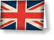 United Kingdom Union Jack England Britain Flag Vintage Distressed Finish Greeting Card by Design Turnpike