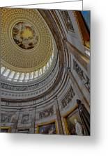 Unites States Capitol Rotunda Greeting Card by Susan Candelario