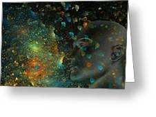 Universal Mind Greeting Card by Betsy A  Cutler