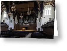 University Auditorium And The Anderson Memorial Organ Greeting Card by Lynn Palmer