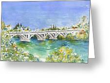 University Bridge Greeting Card by Pat Katz