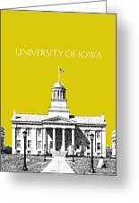 University Of Iowa - Mustard Yellow Greeting Card by DB Artist