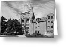 University Of Notre Dame Morrissey Hall Greeting Card by University Icons