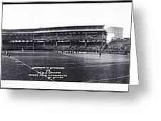 University Of Pittsburgh Vs W And J College Forbes Field Pittsburgh Pa 1915 Greeting Card by Bill Cannon
