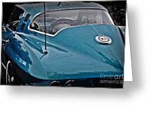 Unmistakeable Tail 65 Corvette Stingray Greeting Card by JW Hanley