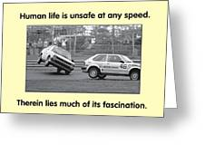 Unsafe At Any Speed Greeting Card by Mike Flynn