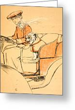 Up Front Greeting Card by Cecil Charles Windsor Aldin