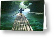 Up The River Greeting Card by Arshaad Norwood