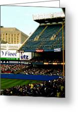 Upper Deck  The Yankee Stadium Greeting Card by Iconic Images Art Gallery David Pucciarelli