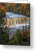 Upper Tahquamenon Falls  Greeting Card by Todd Bielby