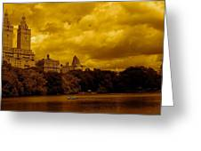 Upper West Side And Central Park Greeting Card by Monique Wegmueller