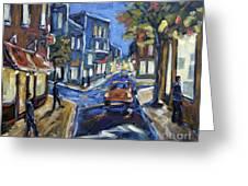 Urban Avenue By Prankearts Greeting Card by Richard T Pranke