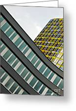 urban rectangles III Greeting Card by Hannes Cmarits
