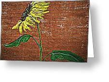 Urban Sunflower Greeting Card by Chris Berry