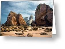 Ursa Beach Rocks Greeting Card by Carlos Caetano