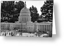 Us Capitol Greeting Card by Ricky Barnard