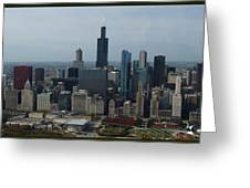 US Cellular and Wrigley Field Chicago BaseBall Parks 3 Panel Composite 02 Greeting Card by Thomas Woolworth