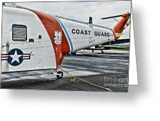 Us Coast Guard Helicopter Greeting Card by Paul Ward