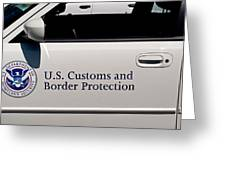 U.s. Customs And Border Protection Greeting Card by Tikvah's Hope