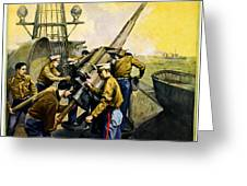 US Marines Greeting Card by Leon Alaric Shafer