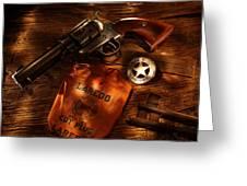 Us Marshal Laredo Greeting Card by Daniel Alcocer