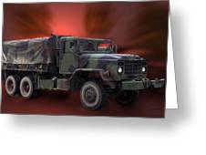 Us Military Truck Greeting Card by Thomas Woolworth