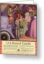 Us Royal Cords 1924 1920s Usa Cc Cars Greeting Card by The Advertising Archives