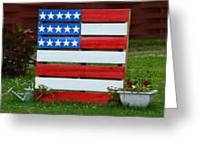 Usa Flag Greeting Card by Kim Stafford