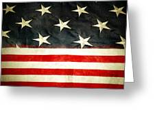 USA stars and stripes Greeting Card by Les Cunliffe