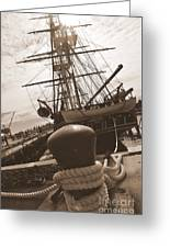 Uss Constitution Greeting Card by Catherine Reusch  Daley