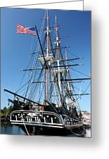 Uss Constitution Greeting Card by Kristin Elmquist