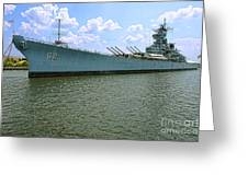 Uss New Jersey Greeting Card by Olivier Le Queinec