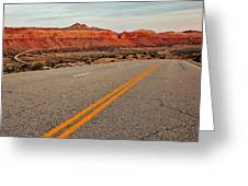 Utah Highway Greeting Card by Benjamin Yeager