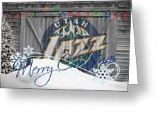 Utah Jazz Greeting Card by Joe Hamilton