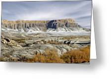 Utah Outback 43 Panoramic Greeting Card by Mike McGlothlen