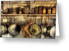 Utensils - Old Country Kitchen Greeting Card by Mike Savad