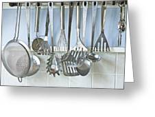 Utensils Greeting Card by Tom Gowanlock