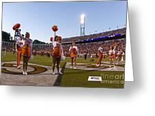 Uva Cheerleaders Greeting Card by Jason O Watson
