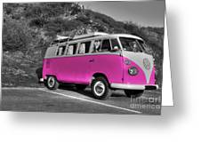V-dub In Pink  Greeting Card by Rob Hawkins
