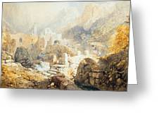 Val Di Ferriera Greeting Card by James Baker Pyne