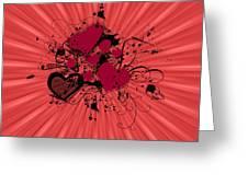 Valentine Day Illustration Greeting Card by Darren Fisher