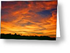 Valentine Sunset Greeting Card by Tammy Espino