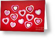 Valentines Day Hearts Greeting Card by Elena Elisseeva