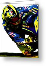 Valentino Rossi  Corner Speed Greeting Card by Iconic Images Art Gallery David Pucciarelli