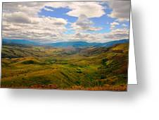 Valley In Northern Idaho Greeting Card by Larry Moloney