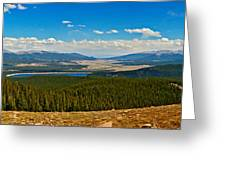Valley Of 14'ers Panorama Greeting Card by Jeremy Rhoades