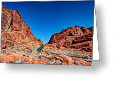 Valley Of Fire Greeting Card by Zachary Cox
