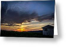 Valley Sunset Greeting Card by Jahred Allen