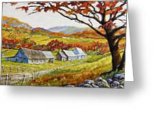 Valley View By Prankearts Greeting Card by Richard T Pranke
