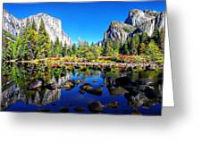 Valley View Reflection Yosemite National Park Greeting Card by Scott McGuire